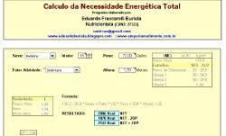 Programa Nutrição - Cálculo necessidade calórica